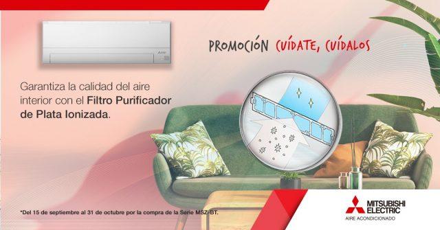 Promo Mitsubishi Electric Cuídate, cuídalos - Calidad del aire interior